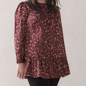 Addition Elle   Floral Ruffle Tunic Blouse